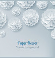 card paper flower light background above vector image vector image