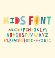 childish cute alphabet hand drawn baby funky abc vector image vector image