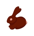 Chocolate easter bunny cartoon icon vector image
