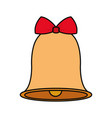 christmas bell icon vector image vector image