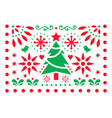 christmas design - mexican folk art pattern vector image vector image