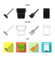 cleaning and service icon vector image vector image
