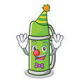 clown thermos character cartoon style vector image