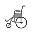 color image cartoon wheel chair medical vector image vector image