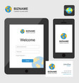 company app design in tablet and smart phone also vector image