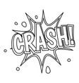 crash explosion bubble icon outline style vector image vector image