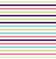 cute multi colored horizontal striped pattern vector image vector image