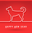 dog - chinese symbol new year vector image vector image