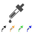 dropper flat icon vector image vector image