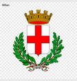 emblem of milan vector image vector image