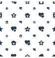 favorite icons pattern seamless white background vector image vector image