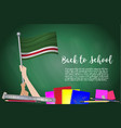 flag of republic of chechen on black chalkboard vector image vector image