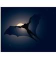 Flying vampire vector image vector image