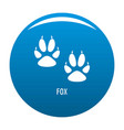 fox step icon blue vector image