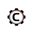 gear solution logo letter c vector image vector image