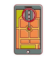 gps navigation pointer map location road city vector image vector image