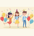 group people dancing celebrating party vector image