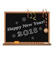 happy new year 2018 written on the blackboard vector image vector image