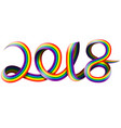 happy new year on rainbow vector image
