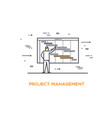 icon business 02 project management vector image