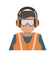 industrial safety icon image vector image vector image