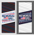 layouts for memorial day vector image vector image
