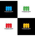 letter m logo icon flat vector image vector image