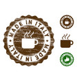 made in italy stamp seal with dirty surface vector image