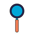 magnifying glass on white background vector image vector image