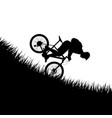 man falling from bicycle vector image vector image