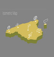 map spain isometric concept vector image vector image