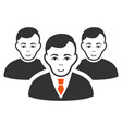 men flat icon vector image