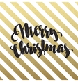 Merry Christmas glittering lettering design vector image vector image