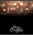 merry christmas winter abstract glowing background vector image vector image