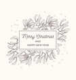mistletoe sketch frame greeting card vector image vector image