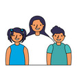 mother with son and daughter vector image vector image