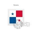 Panama Flag Postage Stamp vector image vector image