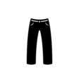 Pants Icon Flat vector image vector image