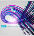 purple curved abstract vector image vector image
