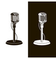 retro microphone images vector image vector image