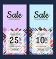 sale banners for beauty shop with makeup vector image vector image