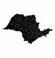 sao paulo state microregions map vector image vector image