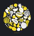 scandinavian hand drawn fruit design template vector image