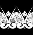 seamless baroque pattern winged angels