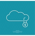Secure cloud service vector image