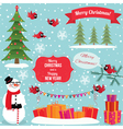 set christmas graphic elements vector image vector image