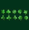 set clover leaves vector image