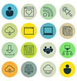 set of 16 web icons includes login account pc vector image vector image