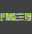 set soccer banners vector image