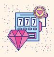 slot machine diamond and chip casino image vector image vector image